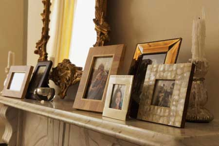 fotos de decoração com porta-retrato