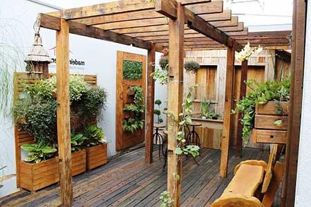 como decorar jardins