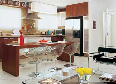 banqueta na cozinha
