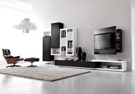 Como escolher estantes para salas pequenas e grandes for Modelos de salas modernas