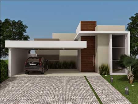 Fachadas de casas modernas pequenas grandes bonitas for Fachadas para residencias