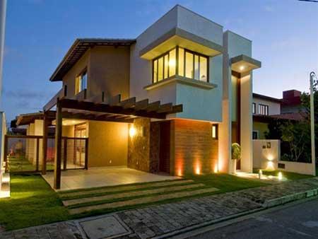 Fachadas de casas modernas pequenas grandes bonitas for Fachadas minimalistas de casas pequenas