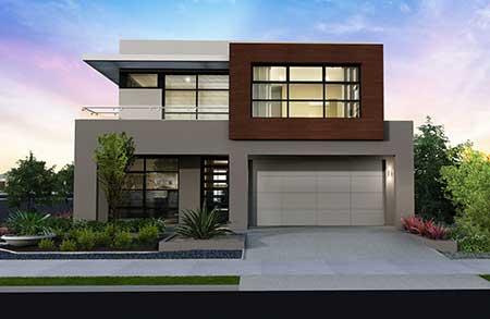 Fachadas de casas modernas pequenas grandes bonitas for Modelos de fachadas modernas