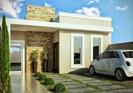 Fachadas de casas modernas pequenas grandes bonitas for Fachadas modernas para casas pequenas de una planta
