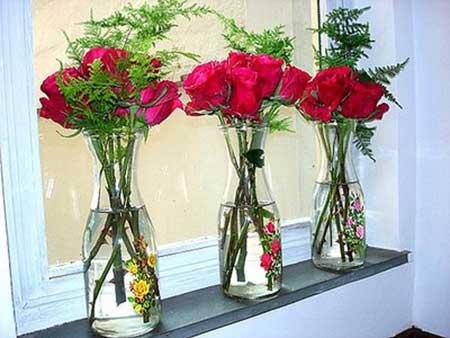como fazer decoração com flores
