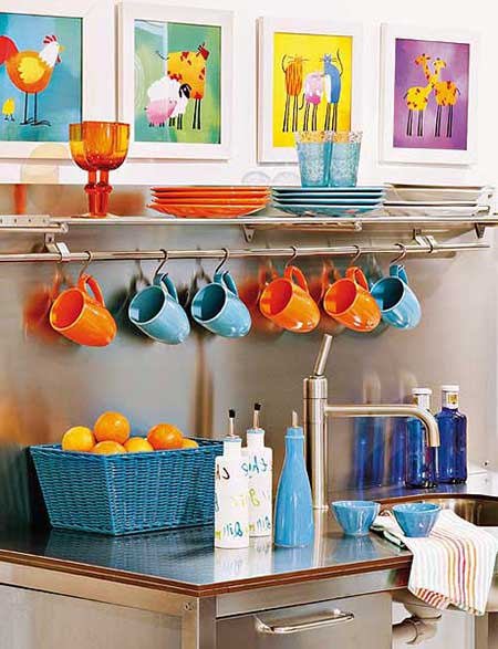 Decora o simples para cozinhas pequenas americanas for Objetos baratos para decorar