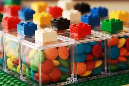 decoração de lego