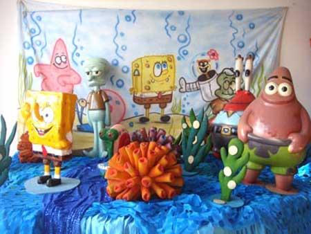decoração do bob esponja para festa