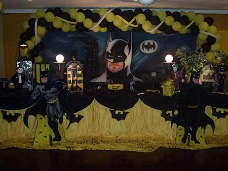 festa de decoração do batman