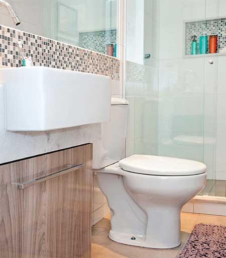 Piso para Banheiro na Reforma e Decoração Fotos e Modelos -> Decoracao De Banheiro Pequeno Bege
