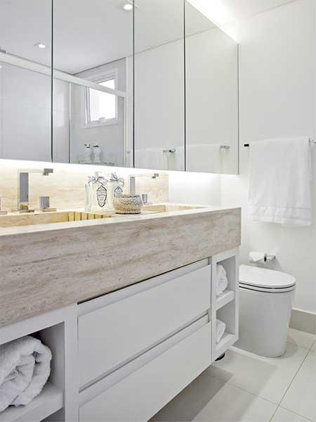 Banheiro pequeno piso escuro obtenha uma - Reforma piso pequeno ...