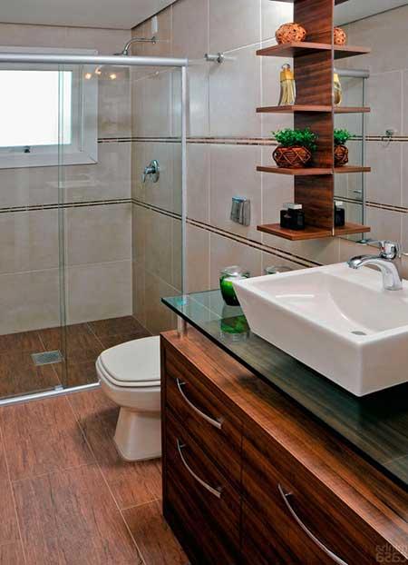 Piso para Banheiro na Reforma e Decoração Fotos e Modelos # Banheiro Simples Rustico