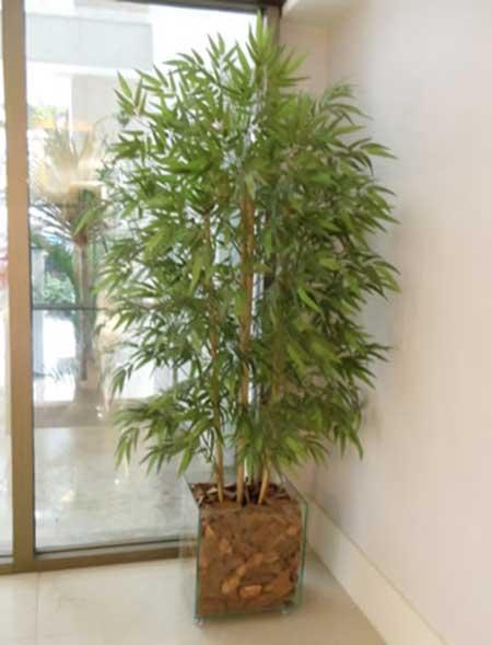 Como plantas artificiais são, normalmente, usadas dentro de casa, os