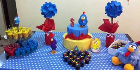 Decoração galinha pintadinha Simples azul