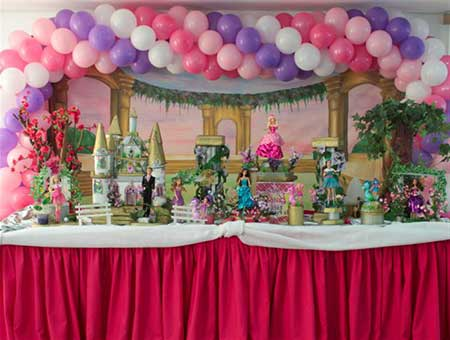 decoração de festa da barbie