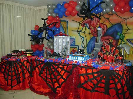 aniversário do homem aranha infantil