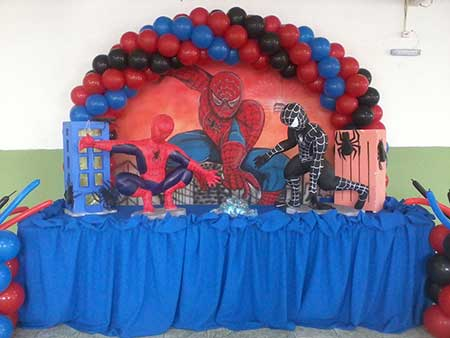 fotos de aniversário do homem aranha