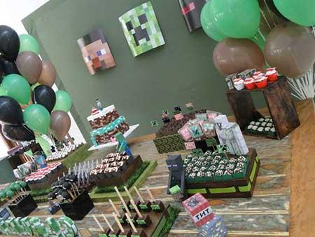 Fotos de Decoração de Festa do Minecraft
