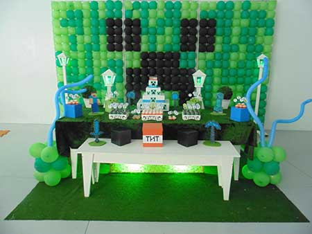 Decoração de Festa do Minecraft para Aniversário