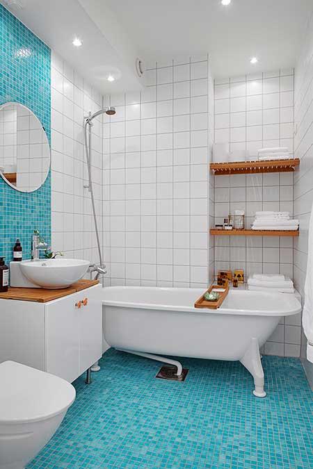 Piso para Banheiro na Reforma e Decoração Fotos e Modelos -> Decoracao De Banheiro Piso E Azulejo