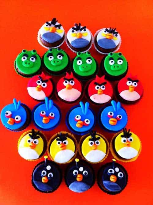 decoração de festa angry birds