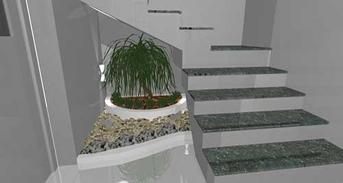 dicas de jardim embaixo da escada