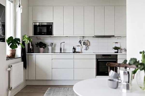 decoração escandinava de cozinha