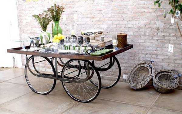 decorar com bicicleta